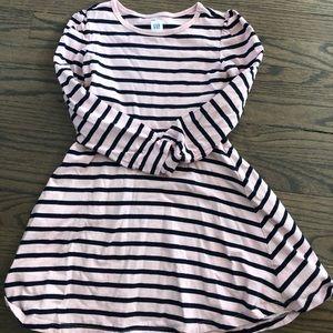 Gap Kids long sleeved striped dress -girls